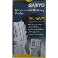 sanyo trc580m microcassette recorder dictating