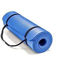 HIGH QUALITY Mat 183x61cm 10mm Thickness Non Slip soft&comfortable for Yoga Exercise Gym Home Picnic Pilates Fitness (NaVy Blue)