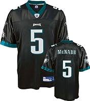 Donovan McNabb Black Reebok NFL Replica Philadelphia Eagles Jersey