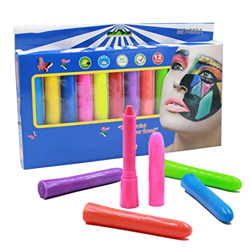 Sporting Heroes Fancy Dress - Fine Face Paint Crayons, Multicolor Face