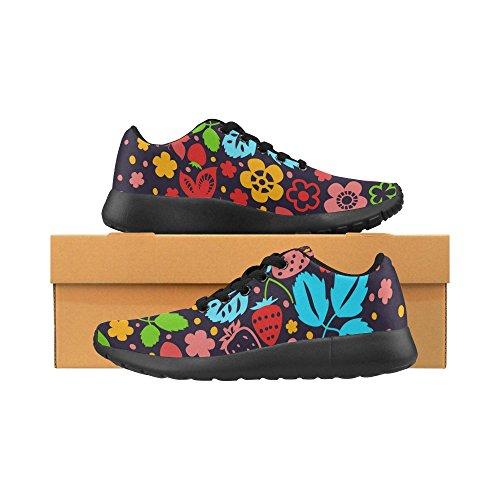 Running de Zenzzle para Mujer Lona Negro de Zapatillas Negro qwqa51E