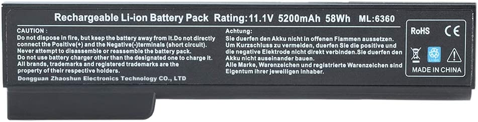 Alipower Battery Compatible with HP 8460P 8470P 8560P 8570P; HP ProBook 6470B 6570B 6460B 6560B 6360B,fits P/N CC06 QK642AA 628666-001