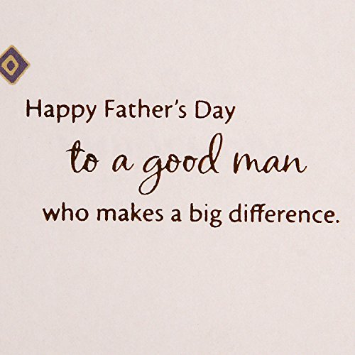 Hallmark Mahogany Father's Day Greeting Card (Good Man Who Makes a Big Difference) Photo #4