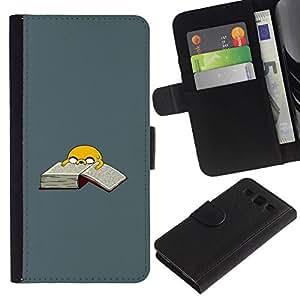 // PHONE CASE GIFT // Moda Estuche Funda de Cuero Billetera Tarjeta de crédito dinero bolsa Cubierta de proteccion Caso Samsung Galaxy S3 III I9300 / Adventure T1Me Dog /