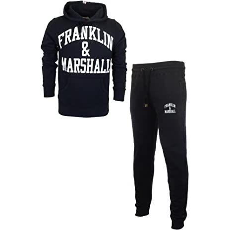 Franklin & Marshall Hombre Arch Logo Hoodie Tracksuit, Negro, X ...