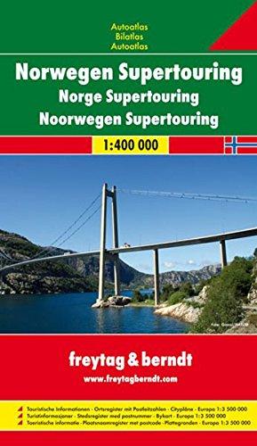 Freytag Berndt Autoatlas, Norwegen Supertouring, Spiralbindung - Maßstab 1:400.000 (freytag & berndt Autoatlanten)