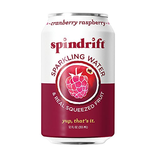 Spindrift Cranberry Raspberry Sparkling Water, 12-Fluid-Ounce Cans, Pack of 24
