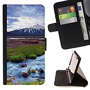 DEVIL CASE - FOR Samsung Galaxy S6 - Nature Beautiful Forrest Green 63 - Style PU Leather Case Wallet Flip Stand Flap Closure Cover