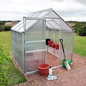 Kingfisher 6ft x 6ft (1.82m x 1.82m) Premium Aluminium Greenhouse