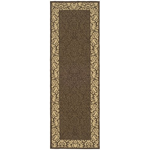 Safavieh Courtyard Collection CY2727-3409 Chocolate and Natural Indoor/ Outdoor Runner (2'3