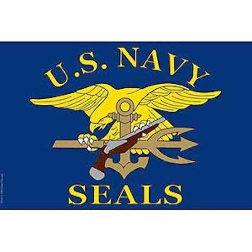 Flag USN Navy Seals Poly 2ft X 3ft