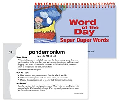 Amazoncom Primary Concepts Aa3913 Word Of The Day Super Duper