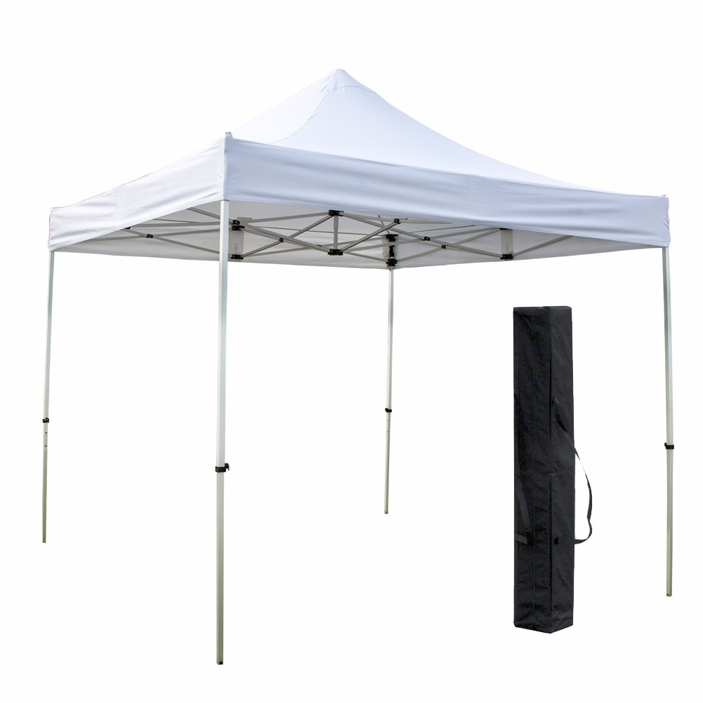 Snail Aluminum 10 X 10 ft Heavy Duty Pop Up Canopy Commercial Outdoor Portable Instant Tent Shelter, White