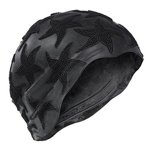 Bonnet de bain maillot de bain-Femme-Noir-S Fixation Fashy Bonnet de bain rétro pour femme