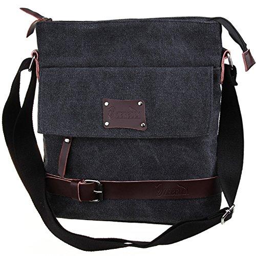 Zebella Casual Canvas Messenger Shoulder Bag Ipad Travel Portfolio Satchel Bag