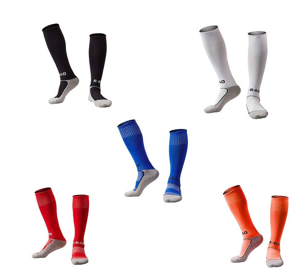 OUYAJI SOCKSHOSIERY ボーイズ B0761ZRPKY 5 Pairs(black&white&red&blue&orange) 5 Pairs(black&white&red&blue&orange)