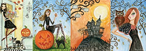 Andrews + Blaine Panoramic Halloween Chic Puzzle (1000 Piece)