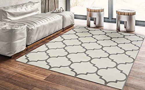 """Ottomanson Royal Collection Contemporary Moroccan Trellis Design Area Rug, 5'3"""" X 7'0"""", Cream"""