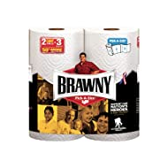 Brawny Paper Towels, 2 Giant Rolls, Pick-A-Size, White