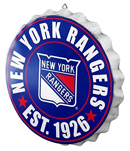 Mlb Caps Bottle (FOCO New York Rangers 2016 Bottle Cap Wall Sign)