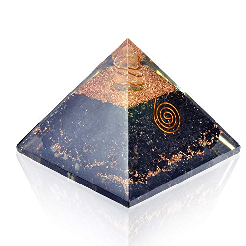 - Orgonite Crystal Pyramid-Black Tourmaline-Crystal-Point-Chakra Balancing Orgone Energy Generator- Orgonite Pyramid for EMF Protection - Healing Crystal and Stones - Boost Immune System Meditation