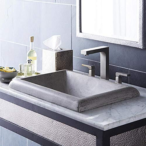 Native Trails NSL2216-A Montecito Native Stone Drop-in Bathroom Sink, Ash (Montecito Stone)