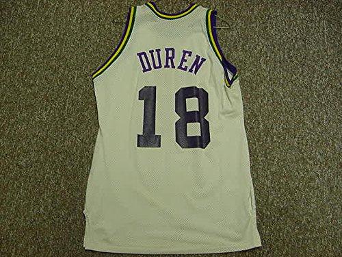 John Duren Utah Jazz 1980-1982 Sand-Knit White Game Jersey