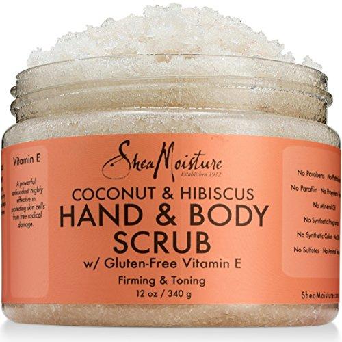 SheaMoisture Coconut & Hibiscus Hand/Body Scrub, 12 Ounce
