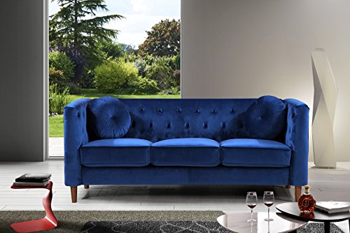 """Container Furniture S5373-S Chesterfield Sofa, 78"""","""