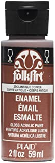 product image for FolkArt Enamel Glitter and Metallic Paint in Assorted Colors (2 oz), 2843, Metallic Antique Copper