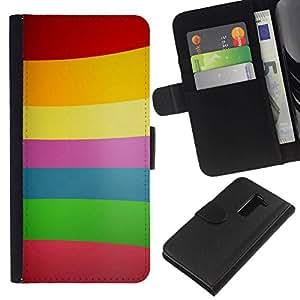 // PHONE CASE GIFT // Moda Estuche Funda de Cuero Billetera Tarjeta de crédito dinero bolsa Cubierta de proteccion Caso LG G2 D800 / Color Lines Pattern /