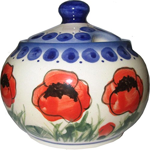 (Polish Pottery Sugar Bowl Eva's Collection