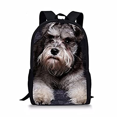 b1e131c2a8bb high-quality Amzbeauty Cute School Bag for Kids Dog Print 17 Inch ...