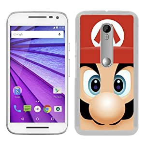 Personalized Custom Moto G 3rd Case,Super Mario White Motorola Moto G 3rd Generation Phone Case