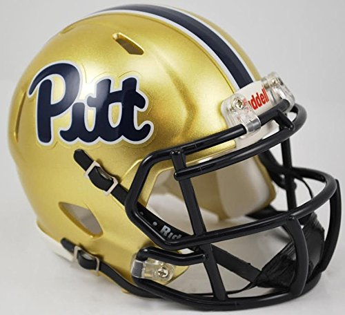 Pitt Panthers Collectibles - PITTSBURGH PANTHERS NCAA Riddell Revolution SPEED Mini Football Helmet PITT (SCRIPT)