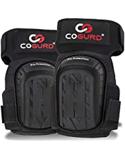 COGURD Professional Gel Knee Pads for Work Construction, Gardening, Cleaning, Flooring and Garage - Heavy Duty Support Kneepads with High Density Foam Padding Gel Cushion and Adjustable Velcro Straps