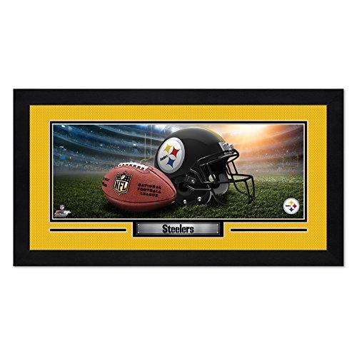 Photo File Pittsburgh Steelers Print 13x7 Framed Helmet in Stadium Design