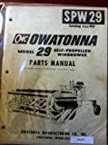Owatonna 29 SP Windrower Parts Manual