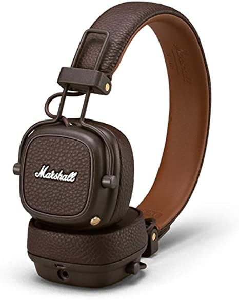 casque arceau marshall major iii bluetooth marron