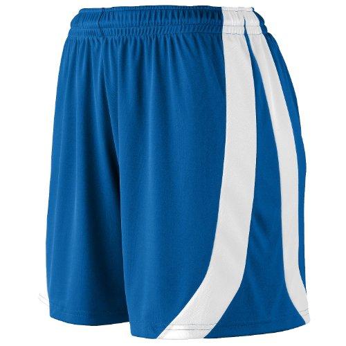 Augusta Sportswear Big Girl's Triumph Short, ROYAL/WHITE, Large by Augusta Sportswear