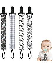 4 Pieces Baby Pacifier Clips Dummy Clips Newborn Girls and Boys Soother Chains Unrsal Holder Leash for Pacifier, Teething Toy, Drooling Bib Attractive Processed