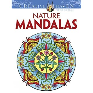 Creative Haven Nature Mandalas Coloring Book Books Adult