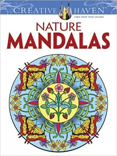 Amazoncom Creative Haven Nature Mandalas Coloring Book Creative