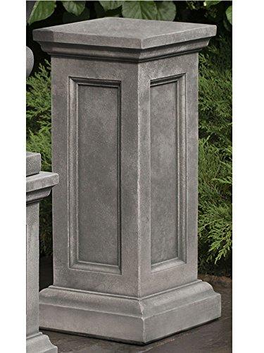 Pedestal Cast Stone Campania - Campania International PD-204-AS Lenox Pedestal, Tall, Alpine Stone Finish