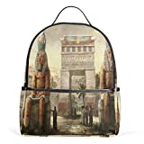 Ancient Egyptian Art And Culture Backpack School Bag College Student Daypack for Boys Girls