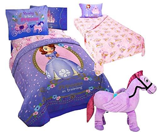 (Sofia The First Princess 6pc Twin Size Bedding (Comforter, Two Shams, Sheet Set) + Minimus Pillow Buddy)