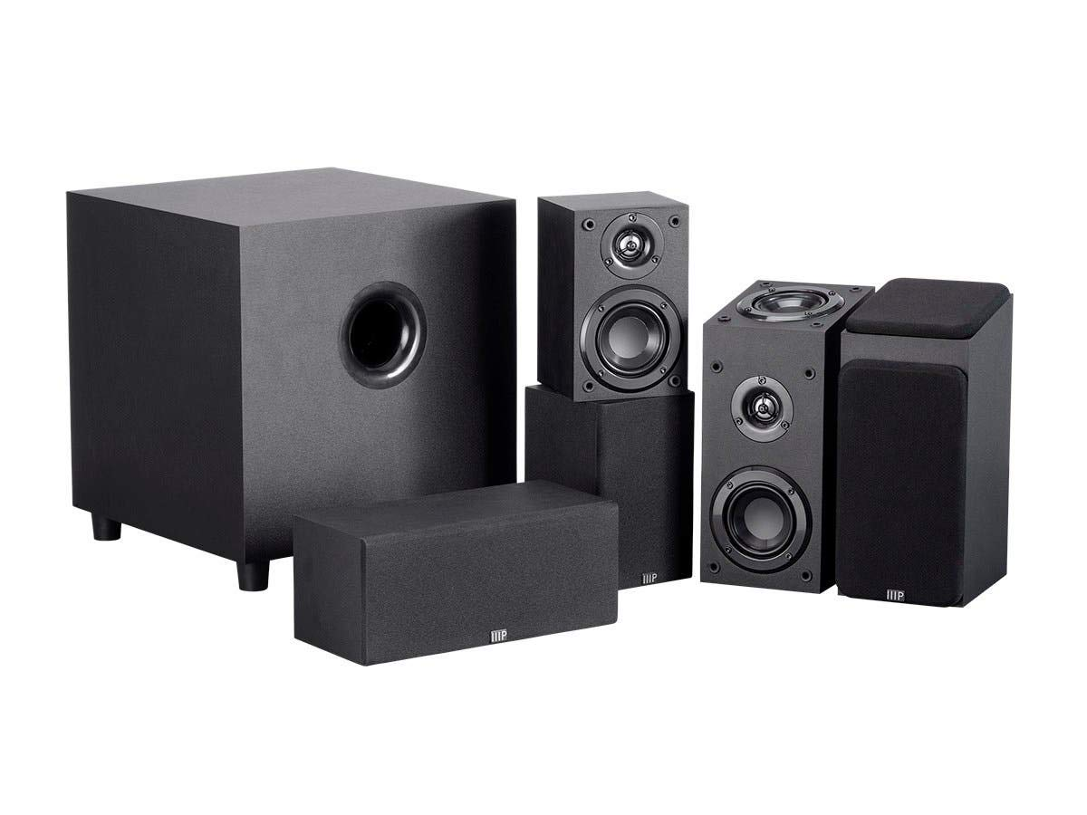 Monoprice 133831 Premium 5.1.2-Ch. Immersive Home Theater System - Black with 8 Inch 200 Watt Subwoofer by Monoprice