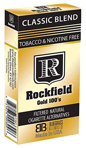 """Tobacco Free Cigarette ALTERNATIVES - ROCKFIELD """"Gold 100'S"""" - Tobacco Free - Nicotine Free - NITROSAMINE Free - Herbal Cigarette ALTERNATIVES"""