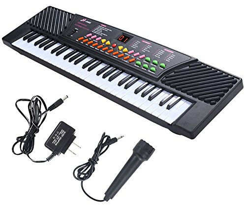 New 54 Keys Music Electronic Keyboard Kid Electric Piano Organ W/Mic & Adapter from Unknown