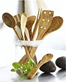 Scanwood Olive Wood Utensil (Spatula Spoon Ladle 3 Piece Set 12 Inch)
